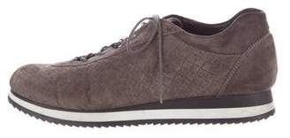 Stuart Weitzman Suede Low-Top Sneakers