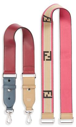 Fendi Set of 2 Strap You Mini Top Handle & Logo Crossbody Strap