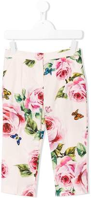 Dolce & Gabbana rose print trousers