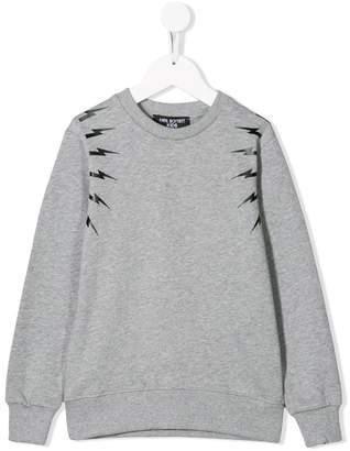 Neil Barrett Kids lightning print sweatshirt