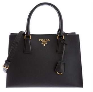 Prada Saffiano Lux Handbag Black