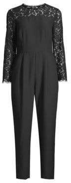 Draper James Women's Lace Sleeve Jumpsuit - Black - Size 0