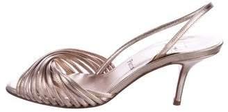 Christian Louboutin Metallic Slingback Sandals