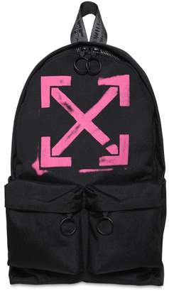 Off-White Off White Print Arrows Tech Canvas Backpack