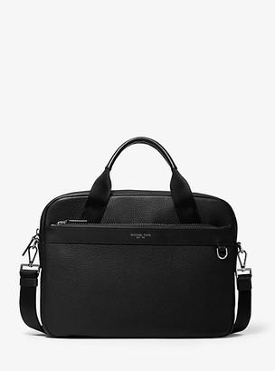 96a33ed80b Michael Kors Greyson Slim Pebbled Leather Briefcase