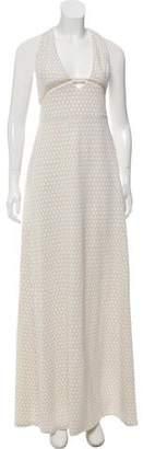 Adriana Iglesias Silk Maxi Dress w/ Tags