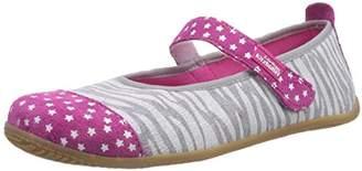 Living Kitzbühel Girls Ballerina Zebra-Optik mit Sternenkappe Unlined low house shoes Gray Grau (620 hellgrau) Size: 35 EU