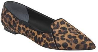Marc Fisher Essiely Genuine Cow Hair Leopard Print Flat