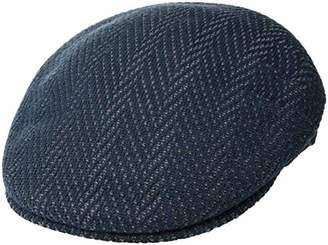Kangol Men's Lg Herringbone 504 Flat Ivy Cap Hat