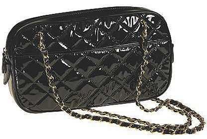 Quilted chain-strap bag