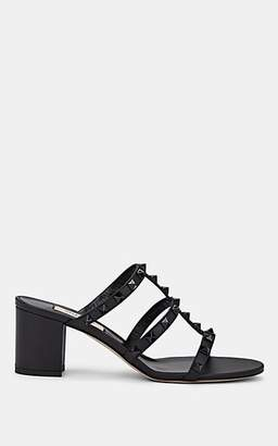 Valentino Women's Rockstud Leather Mules - Black