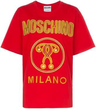 Moschino metallic logo T-shirt