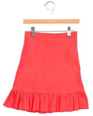 Sonia Rykiel Girls' Denim Gathered Skirt orange Girls' Denim Gathered Skirt