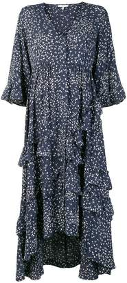 Ganni ruffled floral dress