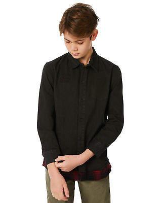 St Goliath New Boys Kids Boys Alone Ls Shirt Long Sleeve Cotton Polyester Black