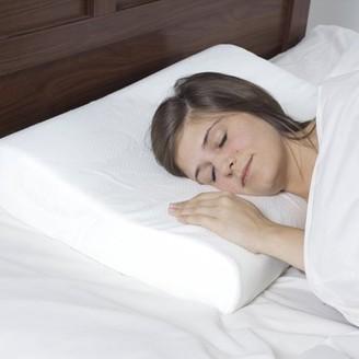 Remedy Blue Memory Foam Contour Bedroom Pillow