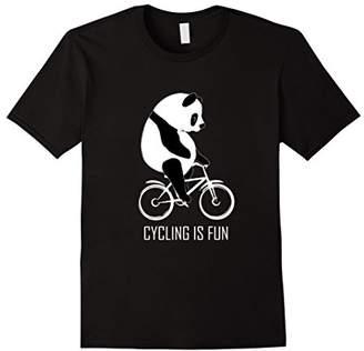 I Love Panda Cycling Riding CuteFun Tshirt Adult Teenage Tee