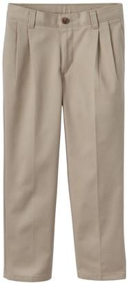 Chaps Boys 4-7 School Uniform Pleated Pants