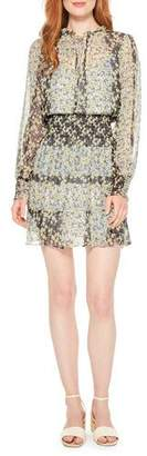 Parker Paisley Smocked Floral Long-Sleeve Dress