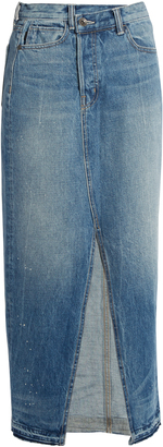 HELMUT LANG Reconstructed denim skirt $345 thestylecure.com