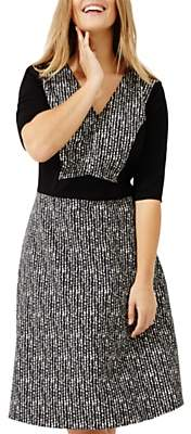 Studio 8 Albany Jacquard Dress, Black/Multi