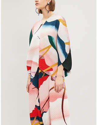 Issey Miyake Bloom printed pleated top