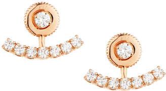 Neiman Marcus Diamonds 14k Rose Gold Diamond Jacket Stud Earrings