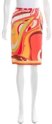 Emilio Pucci Paisley Print Silk Skirt