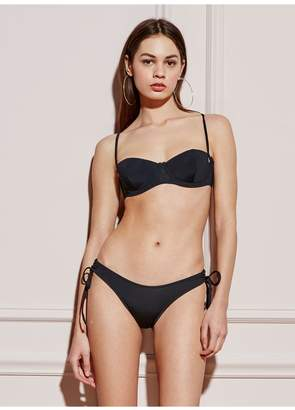 Fleur Du Mal High Leg Bikini Bottom With Rouching