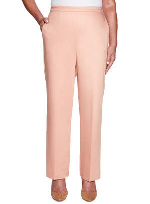 Alfred Dunner Good To Go Womens High Waisted Straight Pull-On Pants