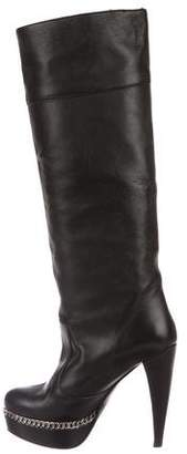 Bruno Magli Leather Knee Boots