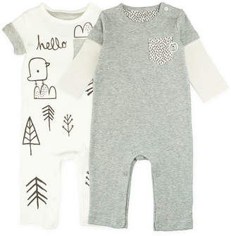 M·A·C MAC AND MOON Mac And Moon 2-Pk. Long & Short Sleeve Rompers Bodysuits