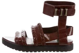 Alexander Wang Ankle Strap Patent Leather Sandals