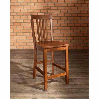 """Crosley Furniture School House Bar Stool with 24"""" Seat Height, 2pk"""