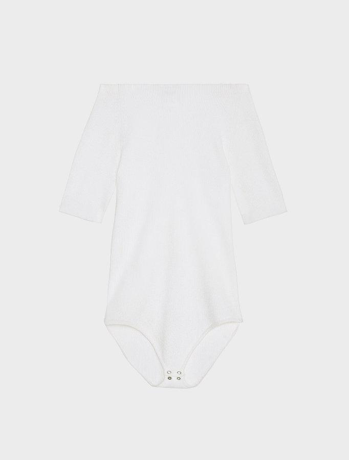 DKNYShort Sleeve Off The Shoulder Bodysuit