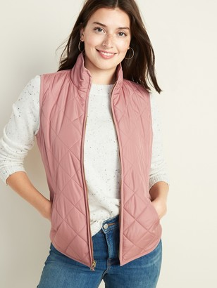 Old Navy Lightweight Diamond-Quilted Zip-Front Vest for Women