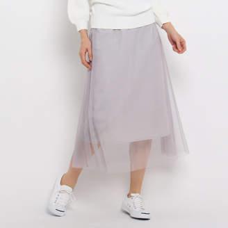 Dessin (デッサン) - Dessin(Ladies) 【洗える】【ウエストゴム】チュールロングスカート