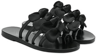 Ancient Greek Sandals Hara Sandals with Satin Bows and Leather