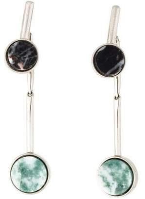 Christian Dior Jasper Double Drop Earrings