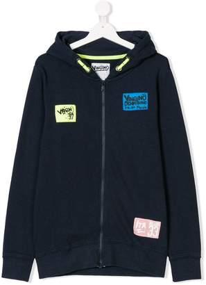 Vingino TEEN patch appliqué zip-up hoodie