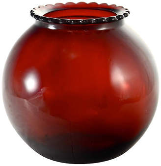 One Kings Lane Vintage Ruby Red Ball Vase - Design Line