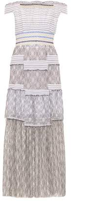 Peter Pilotto - Gaze Off The Shoulder Smocked Dress - Womens - White Black