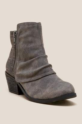 Not Rated Alda Distressed Ankle Boot - Gray