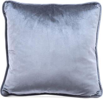 "ZUO Gray Velvet 17.7"" x 17.7"" Decorative Pillow"