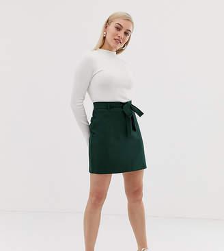Asos DESIGN Petite tailored mini skirt with obi tie