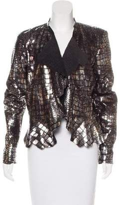 Isabel Marant Metallic Embossed Leather Jacket