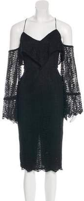 Nicholas Lace Cold-Shoulder Dress w/ Tags
