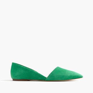 Sloan suede d'Orsay flats $148 thestylecure.com