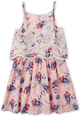 Baby Sara Girls 4-6x) Embroidered Floral Dress