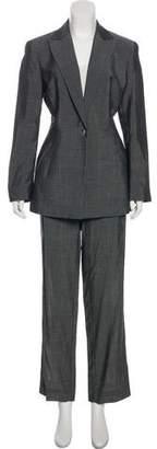 Alberta Ferretti Wool-Blend Straight-Leg Pantsuit